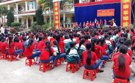 Lào Cai: Ngày hội rửa tay bằng xà phòng trong các trường học