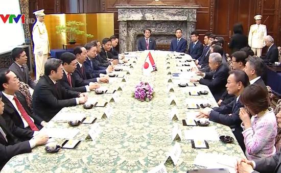 Chủ tịch nước Trần Đại Quang hội kiến Chủ tịch Thượng viện Nhật Bản