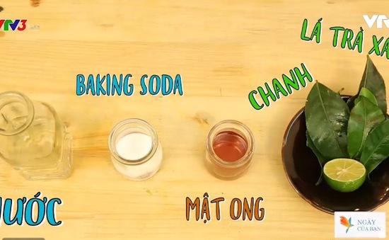 Tự làm nước tẩy trang từ lá trà xanh
