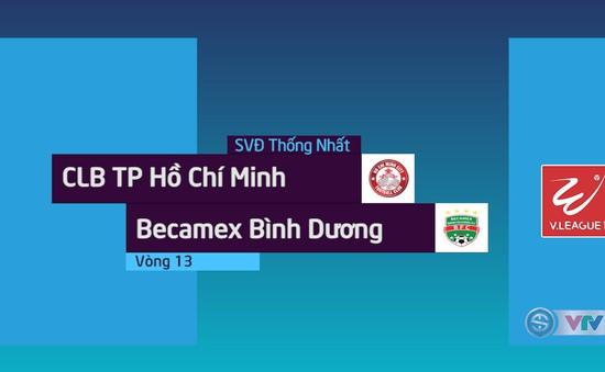 Tổng hợp diễn biến trận đấu CLB TP Hồ Chí Minh 1–1 Becamex Bình Dương (Vòng 13 Nuti Café V.League 2018)