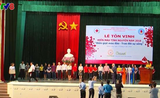 Khánh Hòa tôn vinh người hiến máu tình nguyện