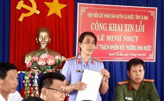 Cà Mau: Viện kiểm sát huyện Cái Nước xin lỗi công khai vì gây oan sai