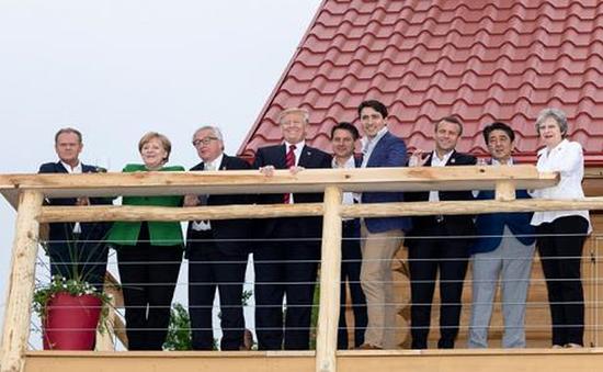 Tổng thống Mỹ đăng ảnh bác bỏ việc bất hòa với các lãnh đạo G7