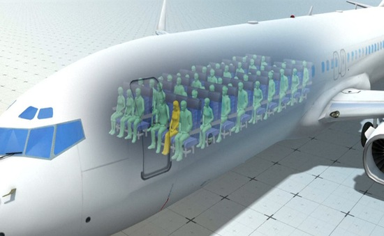 Ngồi gần cửa sổ trên máy bay giúp hành khách ít bị lây bệnh nhất