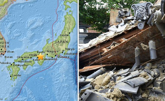Động đất làm gián đoạn khí đốt tại vùng Osaka (Nhật Bản) đến cuối tháng 6