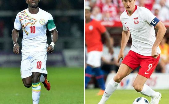 """FIFA World Cup™ 2018, ĐT Ba Lan – ĐT Senegal: Lewandowski """"đấu súng"""" cùng Sadio Mane"""