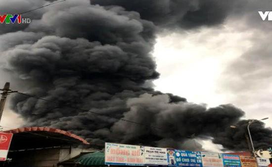 Cháy chợ ở Sóc Sơn, Hà Nội