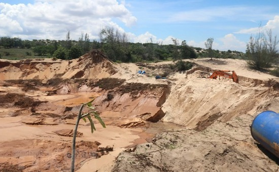 Làm rõ phản ánh về khai thác quặng titan lậu tại Bình Thuận