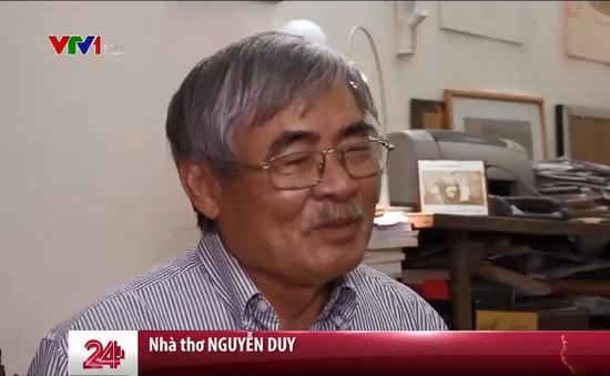 """Nhà thơ Nguyễn Duy: """"Tôi bất ngờ vì tác phẩm được đưa vào đề thi THPT quốc gia"""""""