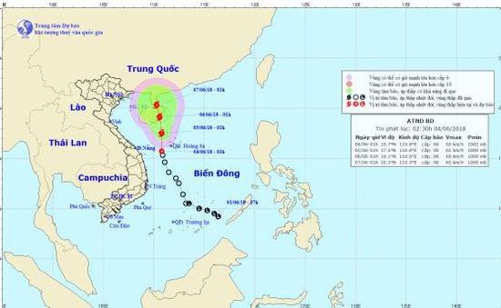 Áp thấp nhiệt đới có khả năng mạnh lên thành bão trong 24 giờ tới