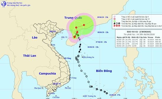 Theo dõi chặt chẽ thông tin bão số 2 để hướng dẫn kịp thời chủ phương tiện tàu, thuyền phòng tránh