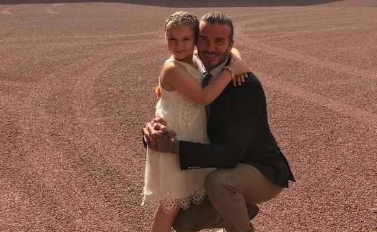Cô út nhà Beckham nhận quà sinh nhật 7 tuổi trị giá 7.000 bảng Anh