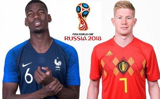 Lịch thi đấu và tường thuật trực tiếp bán kết World Cup 2018 hôm nay: ĐT Pháp - ĐT Bỉ