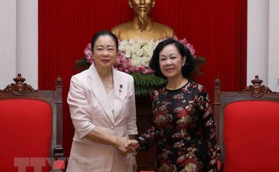 Đồng chí Trương Thị Mai tiếp Đoàn nữ nghị sĩ Đảng Dân chủ Tự do Nhật Bản