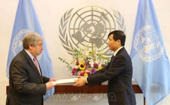 Đại sứ Việt Nam trình Nghị định thư lên Tổng Thư ký Liên Hợp Quốc