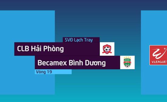 VIDEO: Tổng hợp diễn biến trận CLB Hải Phòng 1-1 Becamex Bình Dương (Vòng 19 Nuti Café V.League 2018)