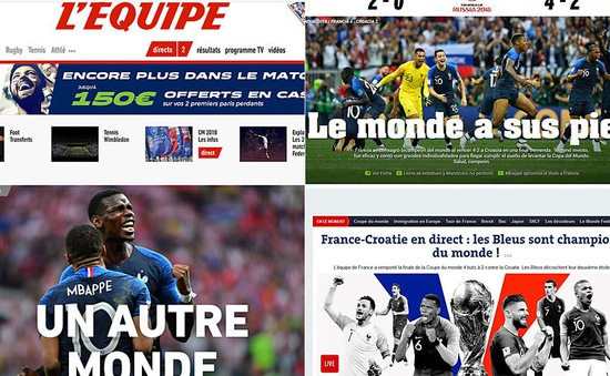 Báo chí thế giới ngả mũ với ĐT Pháp và Mbappe sau chức vô địch FIFA World Cup™ 2018