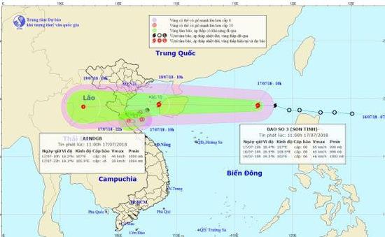 Đêm nay (17/7), trên Biển Đông tiếp tục có mưa dông mạnh, có khả năng xảy ra lốc xoáy