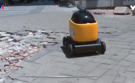 Robot giao hàng tại Trung Quốc