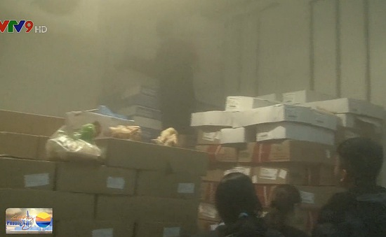 Phát hiện hàng trăm kg thực phẩm đông lạnh hết hạn, không rõ xuất xứ