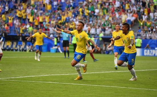 KẾT QUẢ FIFA World Cup™ 2018, Brazil 2–0 Mexico: Neymar toả sáng, Brazil vào tứ kết!