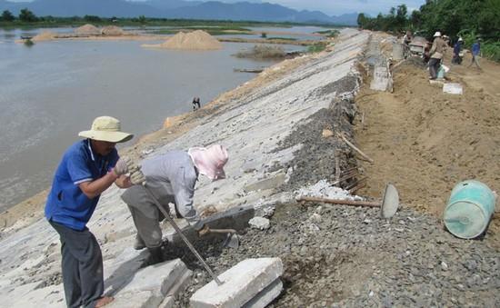 Đẩy nhanh tiến độ xây kè chống sạt lở ở vùng biển Phú Yên