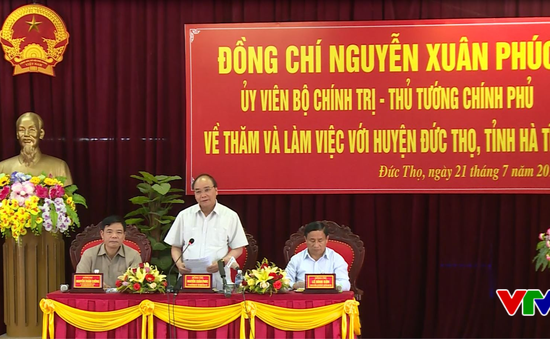 Thủ tướng Chính phủ thăm và làm việc tại huyện Đức Thọ, Hà Tĩnh