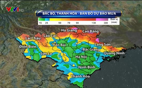 Từ 25-26/7 mưa lớn mở rộng ra khu vực vùng núi và trung du Bắc Bộ