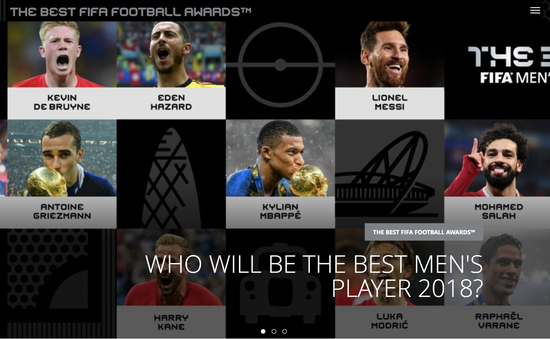 """10 ngôi sao lọt đề cử FIFA The Best 2018: Chờ một năm """"không Messi, không C.Ronaldo""""?"""