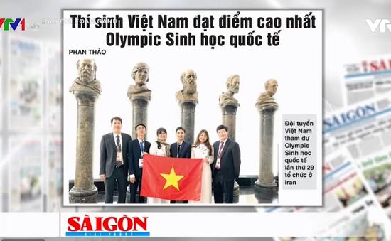 Đoàn học sinh Việt Nam giành thắng lợi vang dội tại kỳ thi Olympic Sinh học Quốc tế