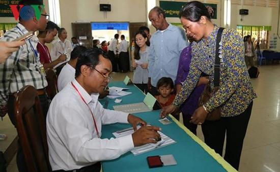 Bầu cử Quốc hội Khóa VI ở Campuchia diễn ra thành công