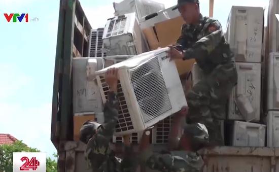 Thu giữ lô hàng cấm nhập lớn nhất qua biên giới đường bộ tại Bình Phước