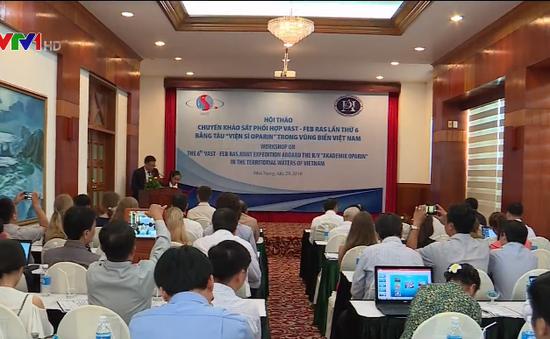 Thu được hơn 1.500 mẫu vật từ chuyến khảo sát hỗn hợp vùng biển Việt Nam