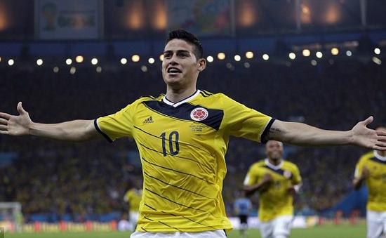 """Điểm danh sao Colombia có thể khiến ĐT Anh """"khóc thét"""""""