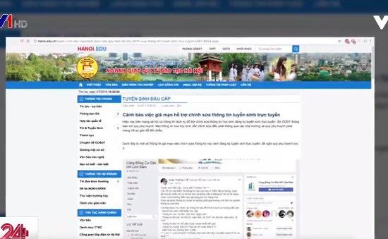 Hà Nội cảnh báo giả mạo chỉnh sửa hồ sơ tuyển sinh trực tuyến vào lớp 1