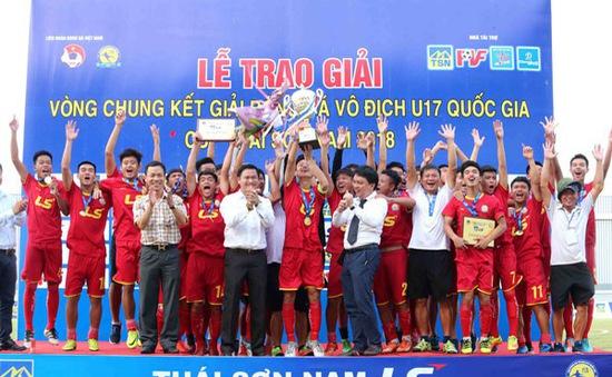 Viettel lần đầu vô địch giải U17 Quốc gia