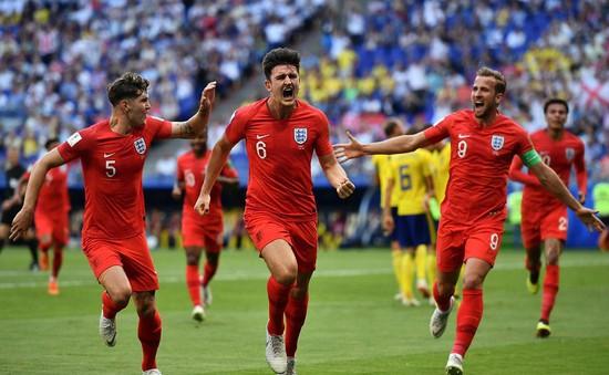 Thống kê sốc về những bàn thắng của ĐT Anh tại FIFA World Cup™ 2018