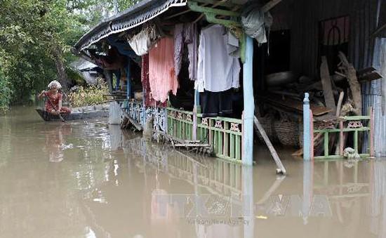 Nước lũ đầu nguồn sông Cửu Long lên nhanh