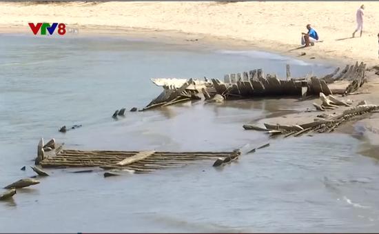 Đức: Phát hiện thuyền gỗ chìm cách đây 123 năm do khô hạn