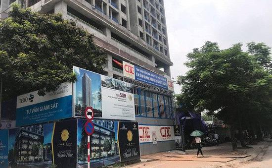 Dừng thi công công trình bị đứt cáp cẩu ở Hà Nội