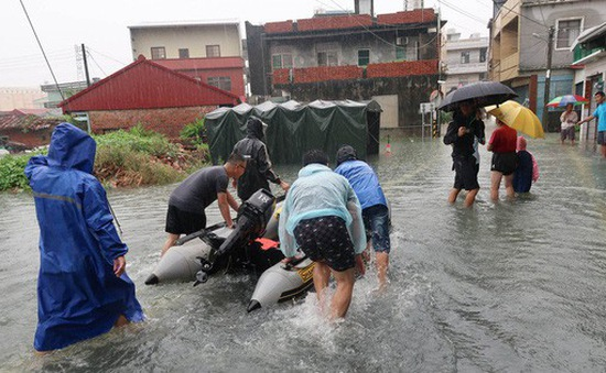 Lũ lụt nghiêm trọng ở Đài Loan (Trung Quốc), 7 người thiệt mạng