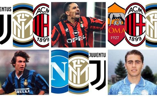 Chỉ có ở Italy: Loạt ngôi sao từng khoác áo 3 đội bóng hàng đầu Serie A