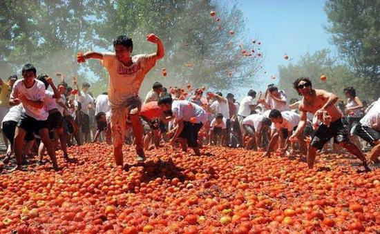 Độc đáo lễ hội ném Cà chua Tây Ban Nha