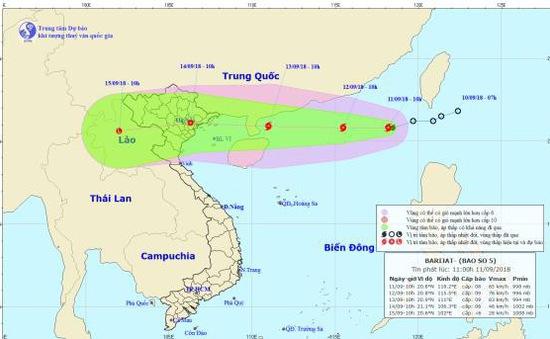 Bão  Barijat chồng siêu bão Mangkhut tiến vào biển Đông