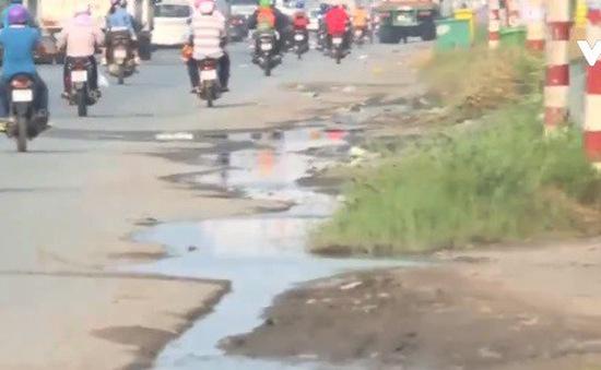 Long An: Quốc lộ cũng thiếu hệ thống thoát nước