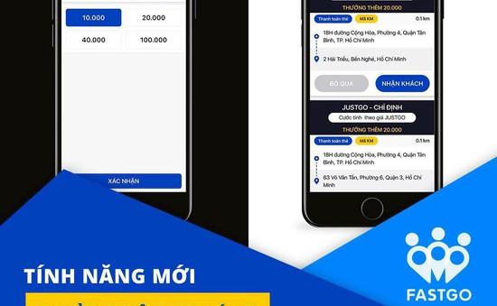 """Ứng dụng gọi xe Việt FastGo gây tranh cãi với tính năng """"Tip"""""""