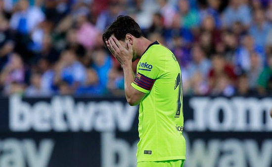 Messi mờ nhạt, Barcelona gục ngã trước đội bóng đứng cuối BXH La Liga