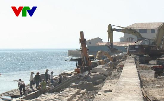 Quảng Nam gấp rút hoàn thành tuyến kè biển Cửa Đại