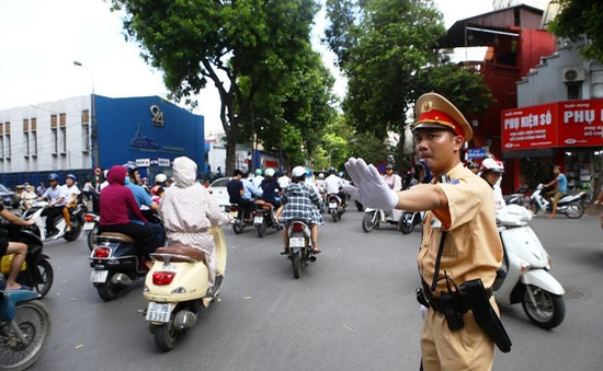 CSGT Hà Nội tăng cường đảm bảo an ninh dịp 30/4 - 1/5