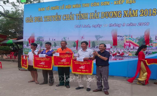 Hơn 100 vận động viên dự Giải đua thuyền chải tỉnh Hải Dương năm 2018